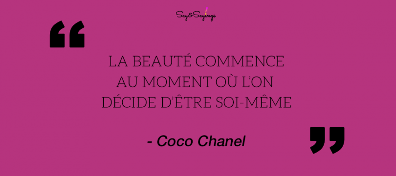 Citations De Coco Chanel Quotes Say Sayings